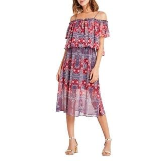 BCBGeneration Womens Casual Dress Chiffon Off Shoulder