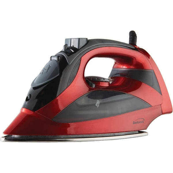 Brentwood Mpi-90R Steam Iron With Auto Shutoff (Red)