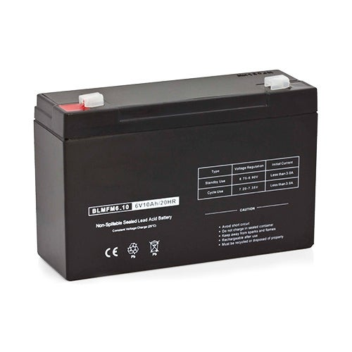 Replacement AGM SLA Battery 6V-10AH Single Pack Replacement AGM SLA Battery