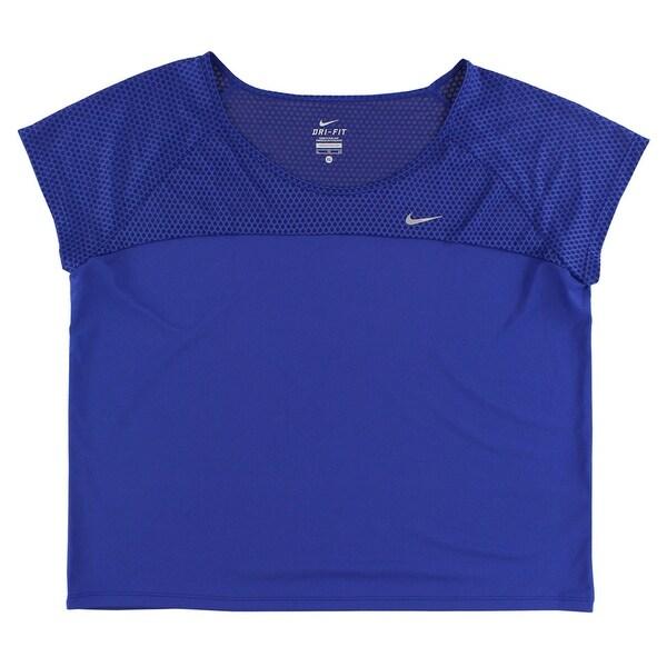 new styles a6c3c 0c728 Nike Womens Run Fast Running Top Royal Blue - Royal Blue/Reflective Silver
