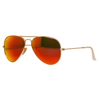 ray ban aviator sunglasses fire orange gold mirror  ray ban aviator rb 3025 unisex 112/4d gold orange flash sunglasses 58mm 14mm 135mm