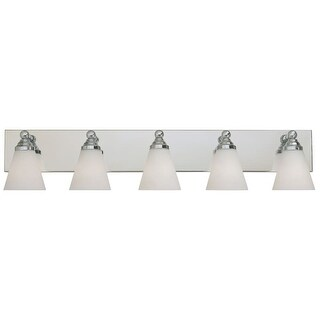 Designers Fountain 6495 Contemporary Five Light 500W Bathroom Wall Fixture from the Hudson Collection