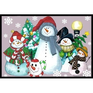 Carolines Treasures PJC1084MAT Snowman Collection For The Holidays Indoor & Outdoor Mat 18 x 27 in.