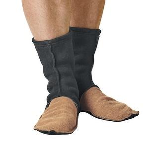 Unisex Adult MocSocks - Fleece Slipper Socks Non-Skid