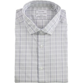 """Link to Calvin Klein Mens Performance Button Up Dress Shirt, blue, 17.5"""" Neck 36""""-37"""" Sleeve - 17.5"""" Neck 36""""-37"""" Sleeve Similar Items in Shirts"""