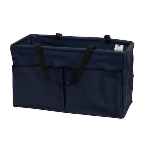 Household Essentials KRUSH Versatile Canvas Utility Tote with Handles, Navy Blue