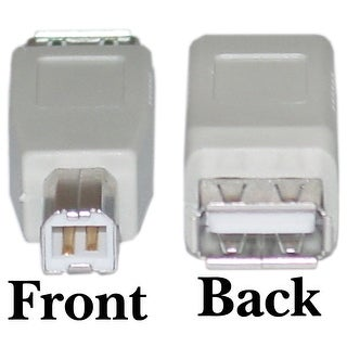 Offex USB A to B Adapter, Type A Female to Type B Male
