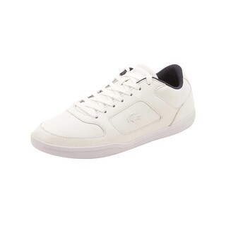 Lacoste Mens Court-Minimal 316 Sneakers in White/Navy