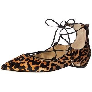 Ivanka Trump Women's Tropicaly Pointed Toe Flat, Brown/Black/Multi, Size 10.0 - 10