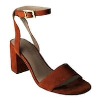 Charles by Charles David Women's Keenan Ankle-Strap Sandal Camel Suede