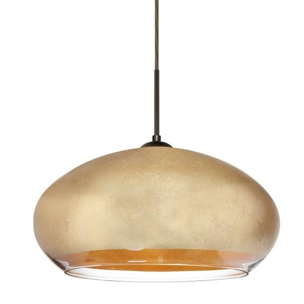 Besa Lighting 1jt 4345gf Brio 1 Light Pendant With Gold Foil Shade