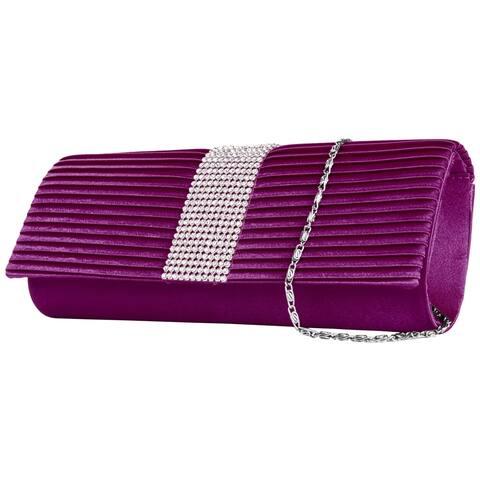 Womens Stylish Fabric Clutch Purse Magnetic Lock Elegant Shoulder Bag