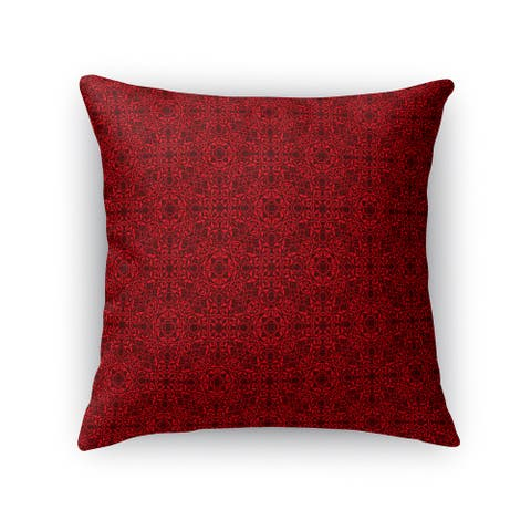 Kavka Designs red/ maroon tex accent pillow By Kavka Designs
