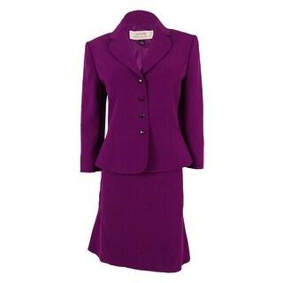 Tahari Women's Reggie Crepe Skirt Suit
