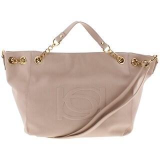 Bebe Womens Lara Shopper Handbag Faux Leather Embossed - LARGE