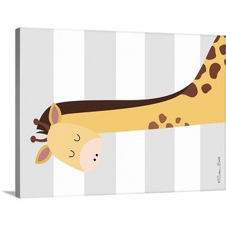 """Giraffe Stripe"" Canvas Wall Art"