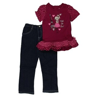 Young Hearts Jean Outfit 2PC Polka Dot - 4t