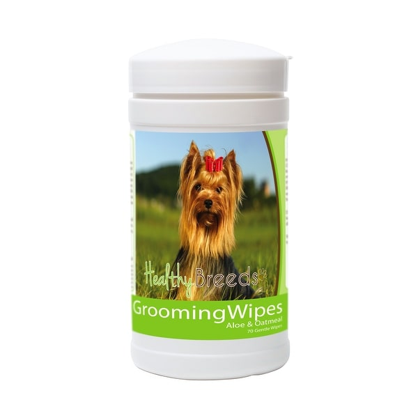 Shop Healthy Breeds Yorkshire Terrier Grooming Wipes 70 Ct Free