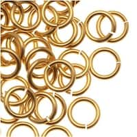 Artistic Wire, Chain Maille Jump Rings, 20 Ga / ID 3.57mm / 140pc, Tarnish Resistant Gold Tone Brass