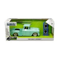 1955 Chevrolet Stepside Pickup Truck Light Turquoise with Extra Wheels Just Trucks Series 1/24 Diecast Model by Jada