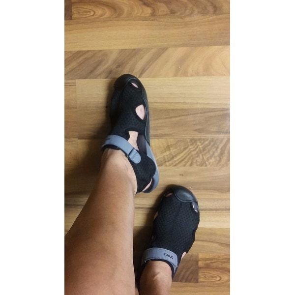 4eaa614c4b Shop Women s Crocs Swiftwater Mesh Sandal Black - Free Shipping On Orders  Over  45 - Overstock - 17264720