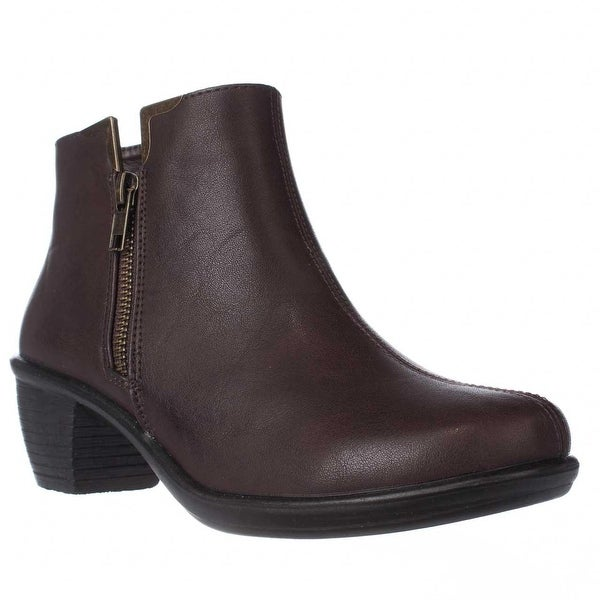 Easy Street Clear Ankle Booties, Brown - 6.5 us