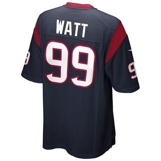 JJ Watt Unsigned Houston Texans Blue Nike Game Jersey Size X-Large