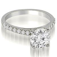 1.20 cttw. 14K White Gold Round Cut Diamond Engagement Ring