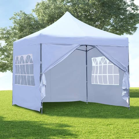 Ainfox 10x10 Ft Outdoor Pop-up Canopy Tent with Removable Sidewalls