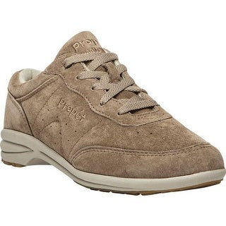 Propet Women's Slip-Resistant Washable Walker Classic Taupe Suede