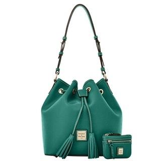 Dooney & Bourke Saffiano Kendall with Small Coin Case (Introduced by Dooney & Bourke at $295 in Sep 2016) - Sage