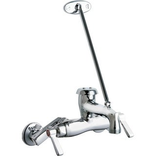 chicago faucets plumbing shop our best home improvement deals Chicago's Best Logo chicago faucets 445 897srxkc wall mounted hot and cold faucet with brace rod chrome