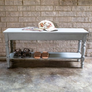 Link to Copper Grove Aulendorf Bench with Lower Storage Shelf Similar Items in Living Room Furniture