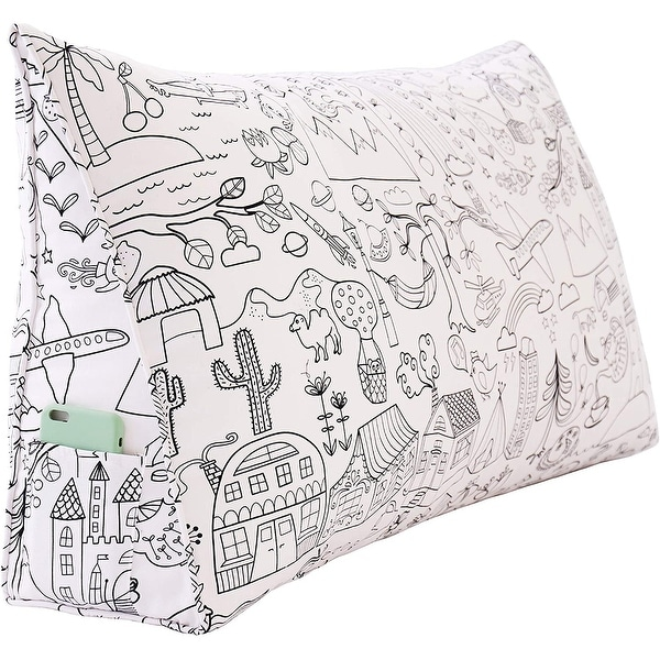 Large Bed Reading Wedge Pillow Back Support Headboard Versatile Dorm. Opens flyout.
