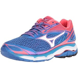 Mizuno Women's Wave Inspire 13 Running Shoe, Malibu Blue/Pink, 7.5 B US