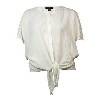 Karen Kane Women's Dolman Sleeve Lace Back Blouse - Cream - xL