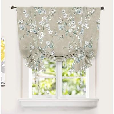 DriftAway Mackenzie Blossom Floral Pattern Printed Tie-up Shade