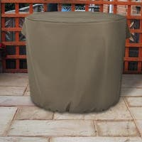 Sunnydaze Heavy-Duty Khaki Round Protective Air Conditioner Cover - 34 X 30-Inch