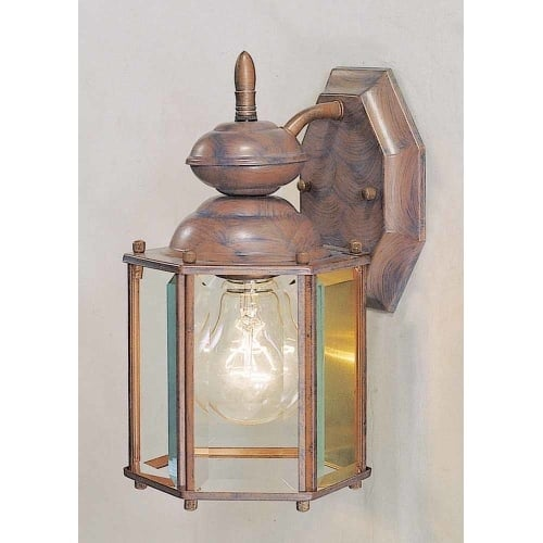"Volume Lighting V9131 1 Light 12.75"" Height Outdoor Wall Sconce with Clear Glass"