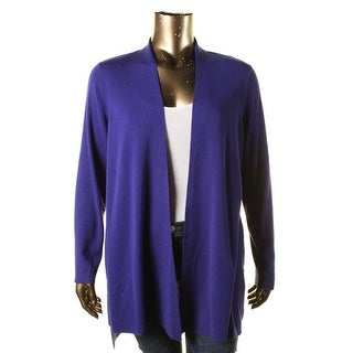 Eileen Fisher Womens Plus Open Front High Low Cardigan Sweater - 1X