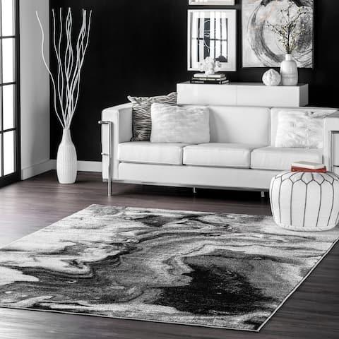 nuLOOM Grey Contemporary Abstract Area Rug