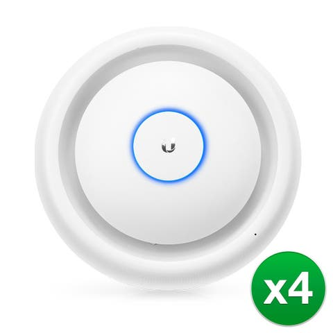 Ubiquiti UniFi 802-11ac Dual-Radio Access Point with Public Address System 4-Pack UniFi Access Point Enterprise Wi-Fi System