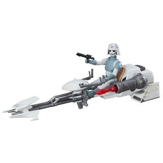"Star Wars: Rebels 3.75"" Vehicle: AT-DP Pilot and Imperial Speeder"