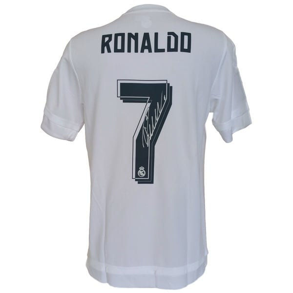 cheap for discount 71dbc b72be Shop Cristiano Ronaldo Signed Adidas Real Madrid Soccer ...
