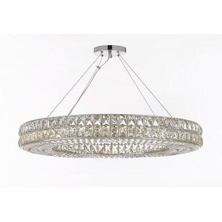 Crystal Spiridon Ring Modern Chandelier - Chrome