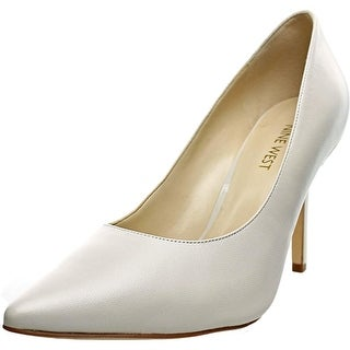 Nine West Jackpot Women Pointed Toe Leather White Heels
