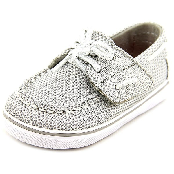 Sperry Top Sider Bahama Crib Jr Moc Toe Canvas Boat Shoe