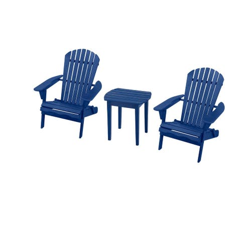 Adirondack Chair Bristro Set, 2 Adirondack Chairs and 1 End Table