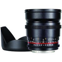 16mm T2.2 Cine Wide Angle Lens for Canon EF Mount Cameras, Pac