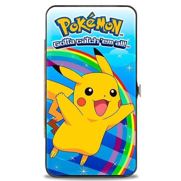 Pokmon Logo Pikachu Rainbow Pose Hinged Wallet - One Size Fits most